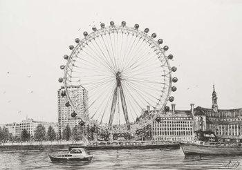 Leinwand Poster The London Eye, 2006,