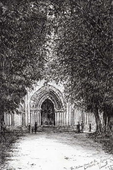 Leinwand Poster the Roman Door l'abbey de blassimon, 2010,