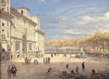 Leinwand Poster The Villa Medici, Rome, 1685
