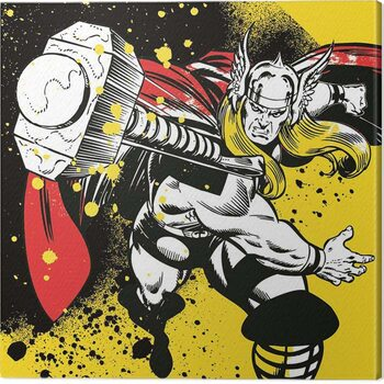 Leinwand Poster Thor - Splatter