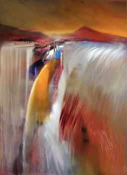 Leinwand Poster Waterfall