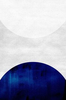 Leinwand Poster White & cobalt