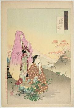 Leinwand Poster Women Admiring Maples