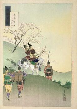 Leinwand Poster Yoshiie Ason: 'The Barrier at Nakoso'