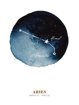 Leinwand Poster Zodiac - Aries