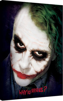 Leinwand Poster  Batman The Dark Knight - Joker Face