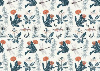 Leinwand Poster Botanical Kingfisher