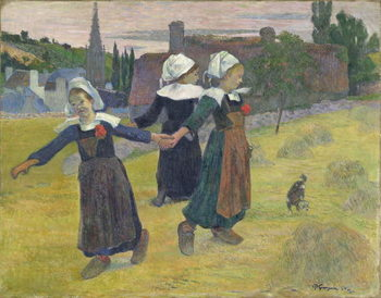 Leinwand Poster Breton Girls Dancing, Pont-Aven, 1888