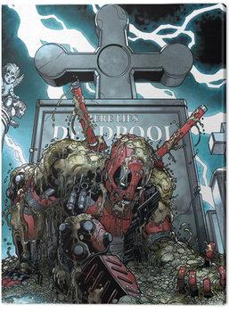 Leinwand Poster Deadpool - Grave