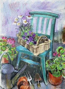 Leinwand Poster Gardener's Chair