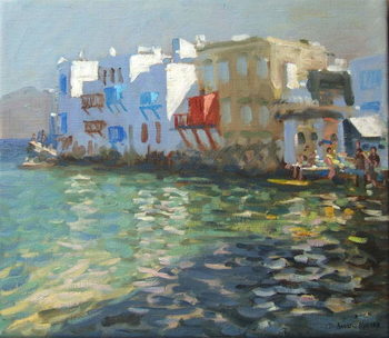 Leinwand Poster Little Venice, Mykonos