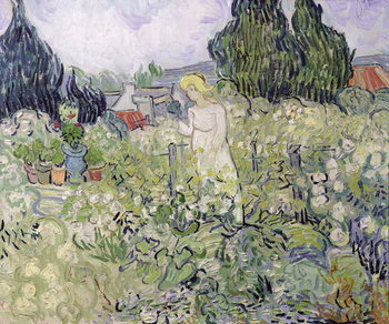 Leinwand Poster Mademoiselle Gachet in her garden at Auvers-sur-Oise, 1890