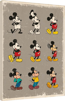 Leinwand Poster Micky Maus (Mickey Mouse) - Evolution