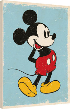 Leinwand Poster Micky Maus (Mickey Mouse) - Retro