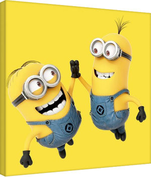 Leinwand Poster Minions (Despicable Me) - High 5
