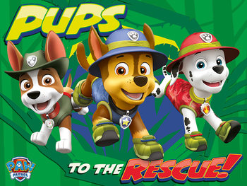 Leinwand Poster  Paw Patrol - Pups To The Rescue