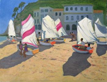 Leinwand Poster Sailboats, Costa Brava, 1999