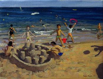 Leinwand Poster Sandcastle, France, 1999