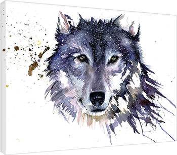 Leinwand Poster  Sarah Stokes - Snow Wolf