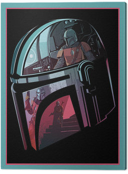 Leinwand Poster Star Wars: The Mandalorian - Helmet Section