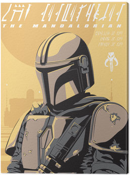 Leinwand Poster Star Wars: The Mandalorian - Illustration