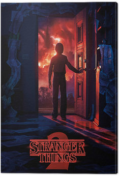 Leinwand Poster  Stranger Things - Doorway