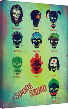 Leinwand Poster Suicide Squad - Roll Call