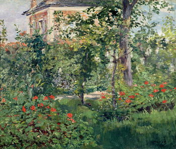 Leinwand Poster The Garden at Bellevue, 1880