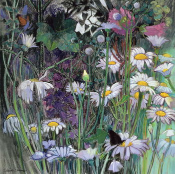 Leinwand Poster The White Garden