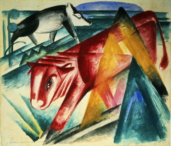 Animals, 1913 Lerretsbilde