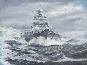 Lerretsbilde Bismarck off Greenland coast 23rd May 1941, 2007,