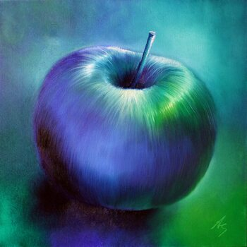 Lerretsbilde Blue apple