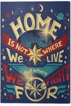 Lerretsbilde Captain Marvel - Home