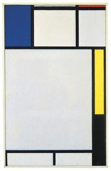 Lerretsbilde Composition with blue