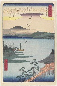 Lerretsbilde Geese Homing at Katada, March 1857