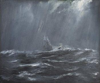 Lerretsbilde Gneisenau in a Storm North Sea 1940, 2006,