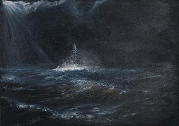 Lerretsbilde HMS Duke of York 1943, 2014,