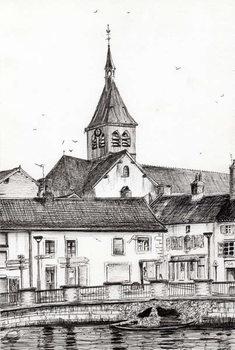Lerretsbilde Laignes France, 2007,