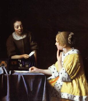 Lerretsbilde Mistress and Maid