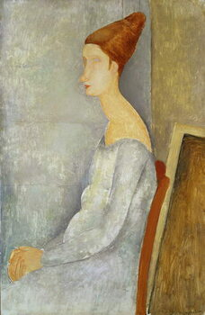 Lerretsbilde Portrait of Jeanne Hebuterne