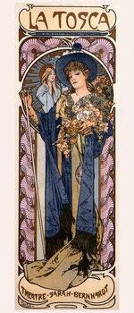Lerretsbilde Poster for 'Tosca' with Sarah Bernhardt