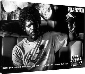 Pulp Fiction - Bad Mother F**ker Lerretsbilde