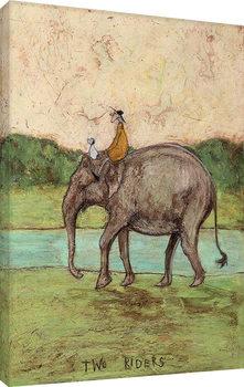 Sam Toft - Two Riders Lerretsbilde