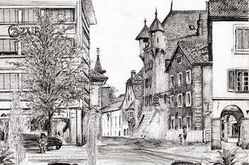 Lerretsbilde Sierre Switzerland, 2012,