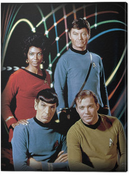 Lerretsbilde Star Trek - Kirk, Spock, Uhura & Bones