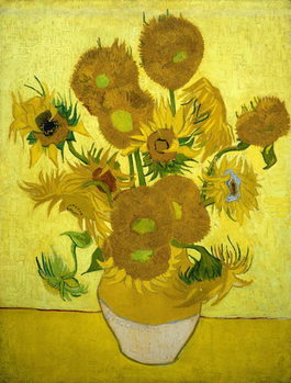 Lerretsbilde Sunflowers, 1889