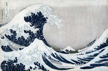 Lerretsbilde The Great Wave off Kanagawa, from the series '36 Views of Mt. Fuji' ('Fugaku sanjuokkei')