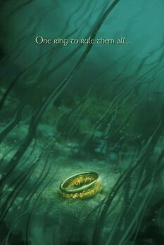 Lerretsbilde The Lord of the Rings - One ring to rule them all