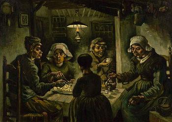 Lerretsbilde The Potato Eaters, 1885