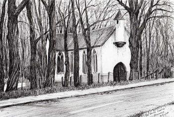 Lerretsbilde The White Chapel Aviemore, 2007,